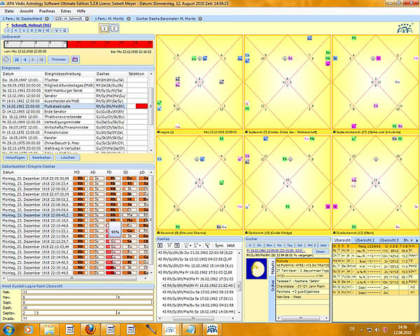 Vedische Astrologie Software - Jyotish - APA Ultimate Edition: Professionelles Geburtszeit-Korrektur Modul